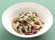 ひじきと根菜のサラダ(赤いんげん豆入り)
