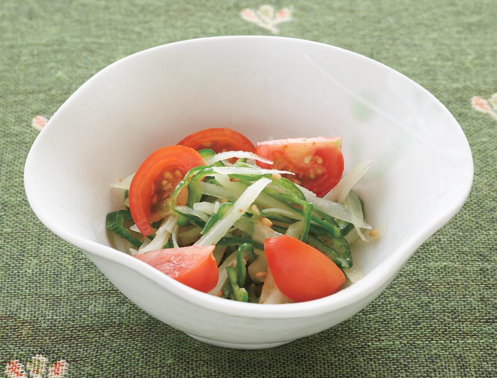 ピーマンとジャガイモの中華風酢の物