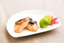 鮭のポン酢焼き