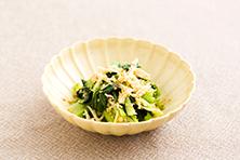 小松菜とえのき茸の和え物