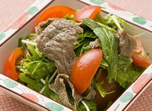 水菜と和牛のサラダ