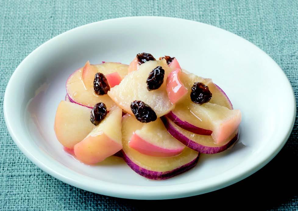 サツマイモとリンゴの重ね煮