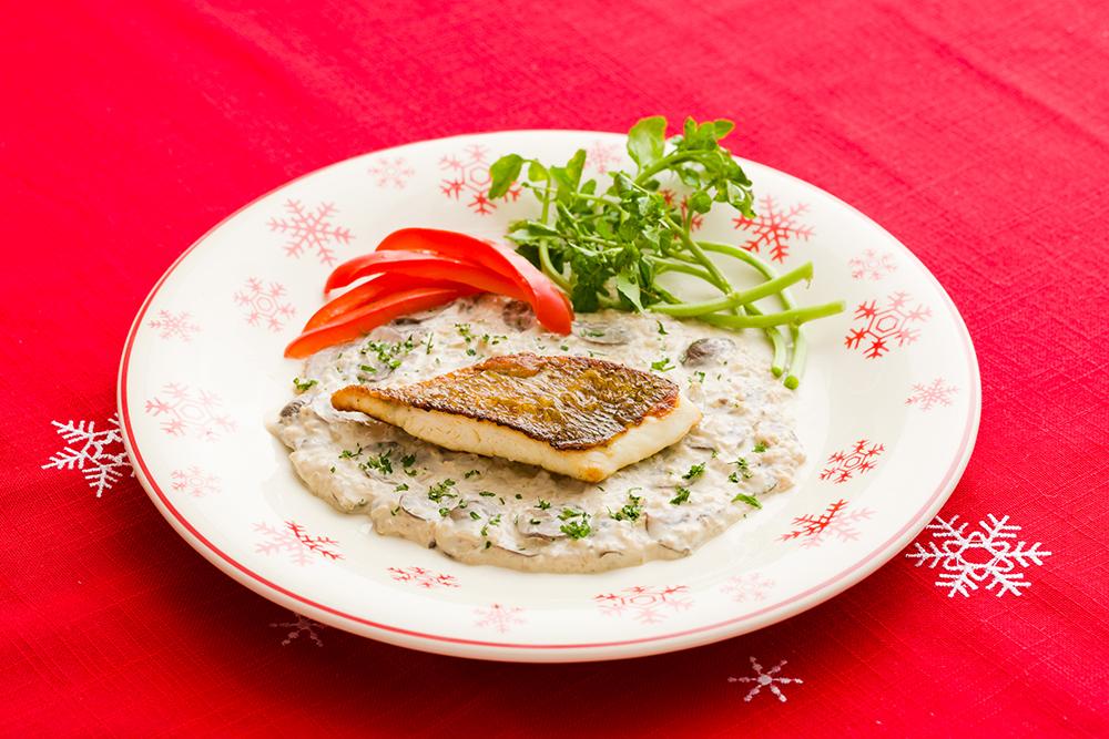 真鯛のポワレクリームソース