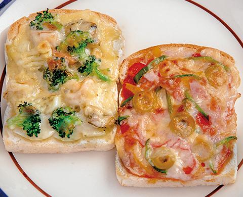ピザ風トースト2種